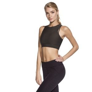NWT MAAJI GREY BLACK SIZE S M SPORTS BRA